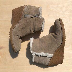 Cole Haan waterproof wedge boot, size 7